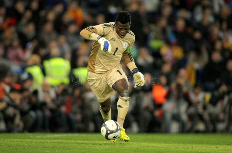 Nigeriaanse keeper Chigozie Agbim stock afbeeldingen