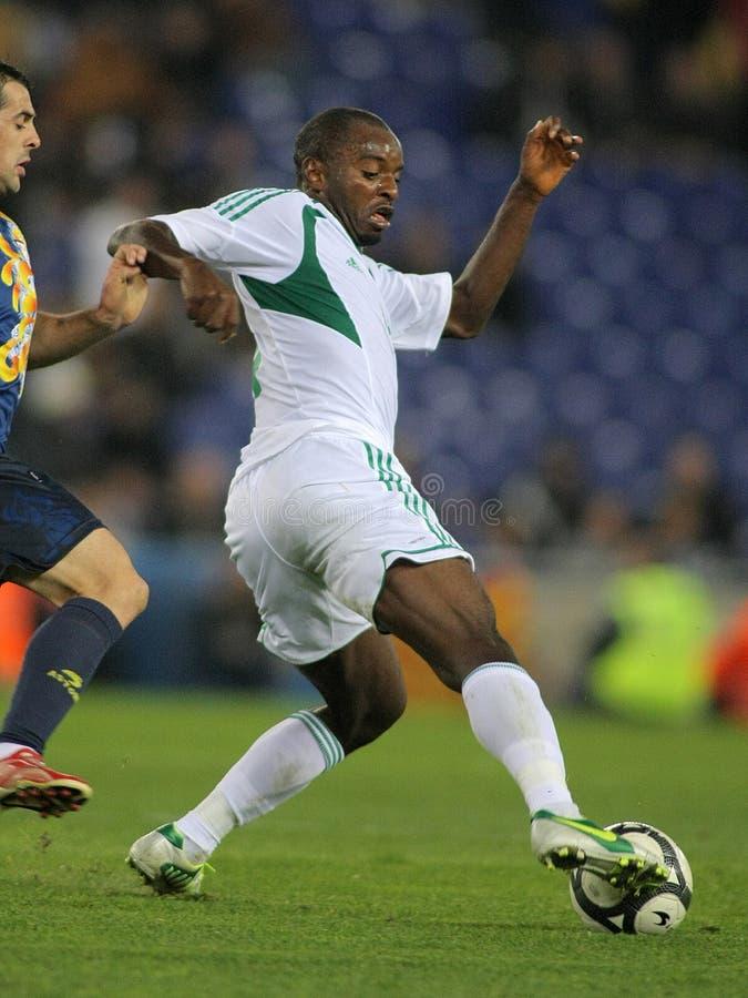Nigeriaanse speler Zondag Mba royalty-vrije stock foto
