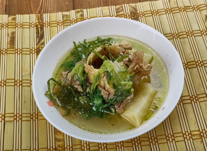 Nigerian bitter leaf soup. Ofe Onugbu stock image