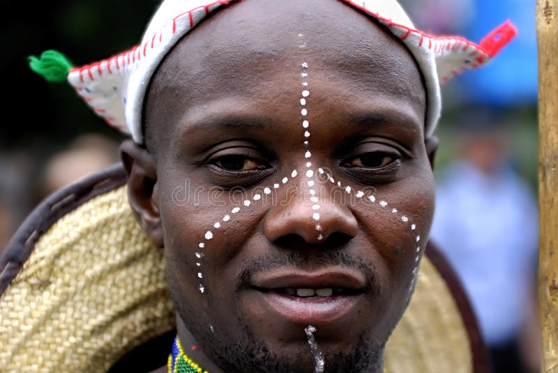 Nigerian man. The nigerian performer in the 1st International Festival of the Intangible Cultural Heritage China,2007 on May 23, 2007 in chengdu, china royalty free stock photo