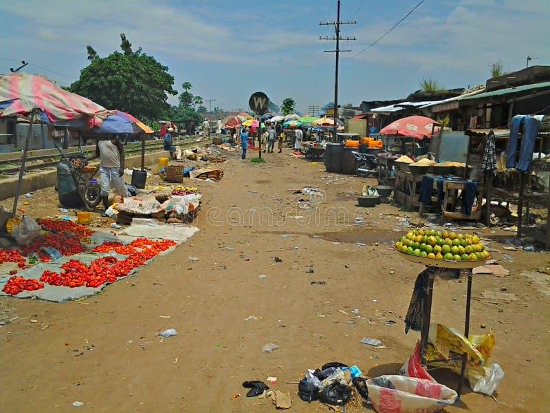 Nigerian Market Place stock image