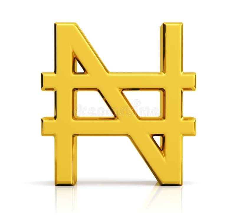 Free Nigerian Naira Symbol Isolated On White Background Stock Images - 219804474