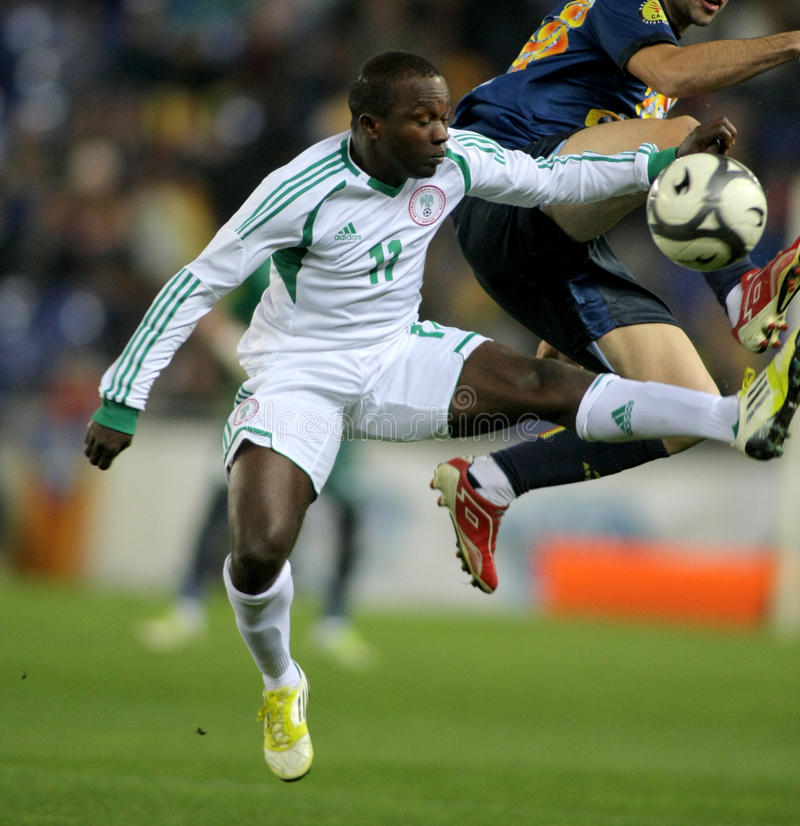 Nigerischer Spieler Ejike Uzoenyi lizenzfreies stockfoto