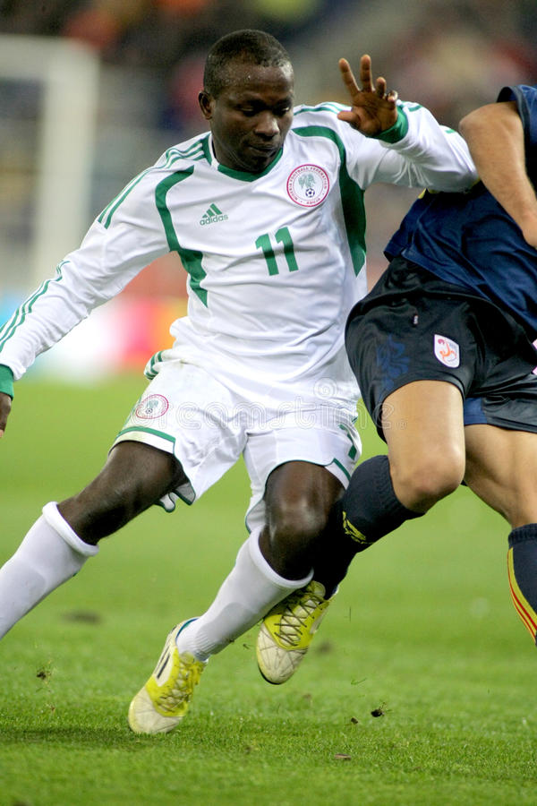 Nigerischer Spieler Ejike Uzoenyi stockfoto