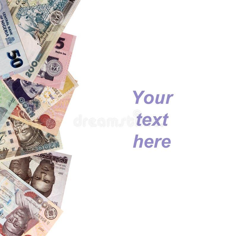 Nigeryjska pieniądze rama obraz royalty free