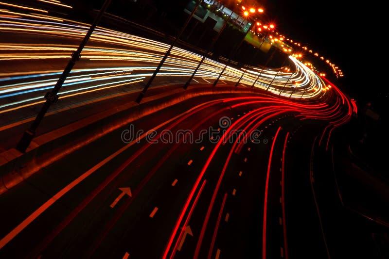 Nigh estrada da cidade. imagens de stock royalty free