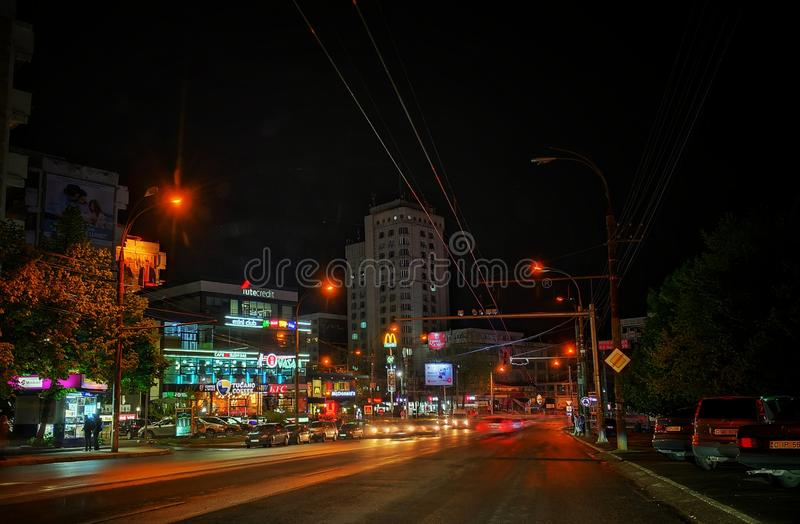 Nigh stad fotografering för bildbyråer