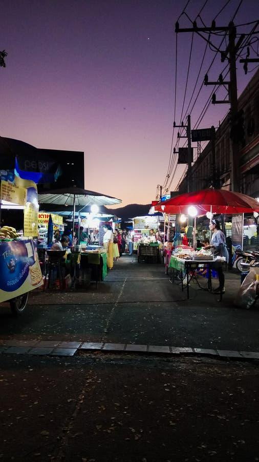 Night†‹in†‹Chiang†‹mai†‹泰国 库存图片