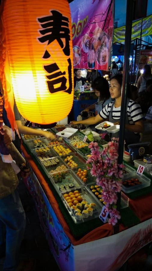 Night†‹Street†‹food†‹in†‹Chiang†‹mai†‹泰国 免版税图库摄影