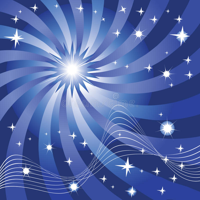 Download Night stock vector. Image of blue, stars, background - 20755677