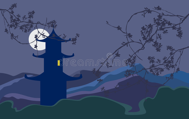 Download Night stock vector. Illustration of ornamental, design - 7618242