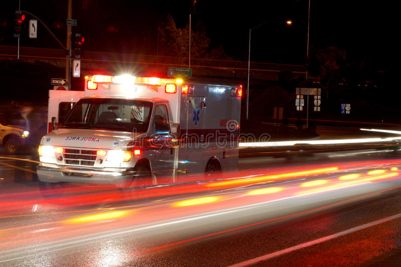 Download Night Ambulance stock photo. Image of light, street, danger - 24375860