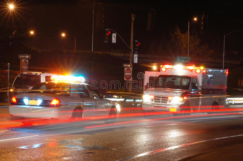 Night Ambulance stock photos
