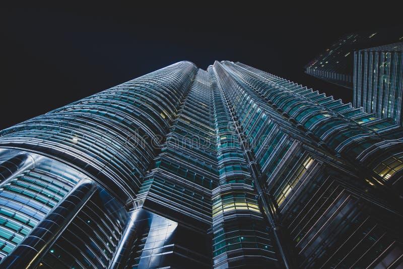 Night architecture in Kuala Lumpur, Malaysia royalty free stock images