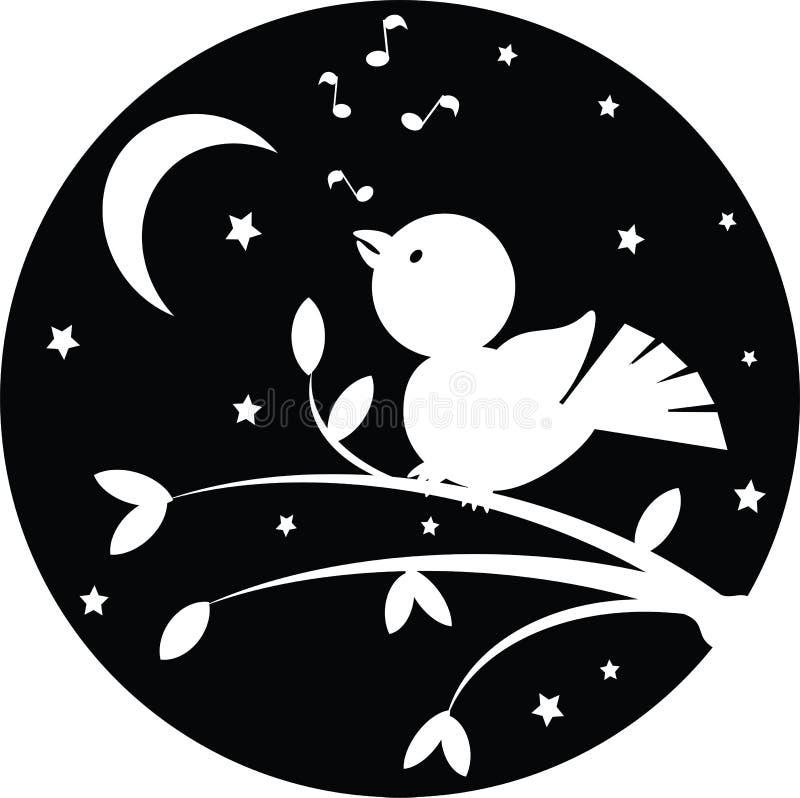 Night Background With Bird Stock Image