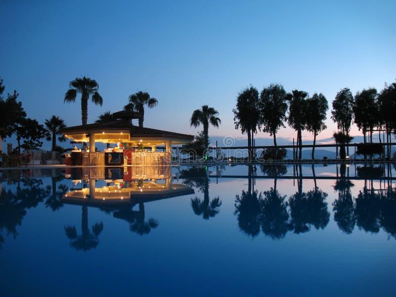 Download Night bar on summer beach stock photo. Image of tree - 14920756