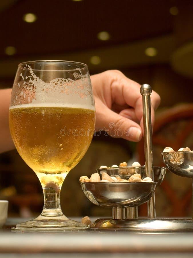 Night beer royalty free stock photo