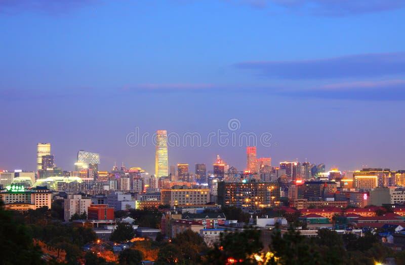 Beijing night scenery stock photography
