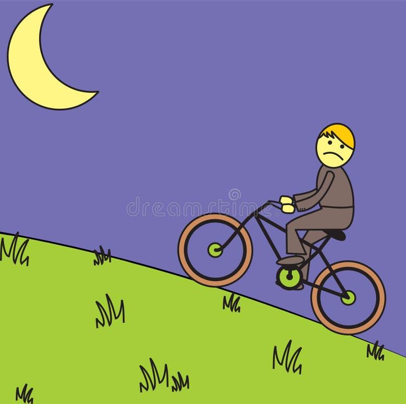 Night bicycle rider