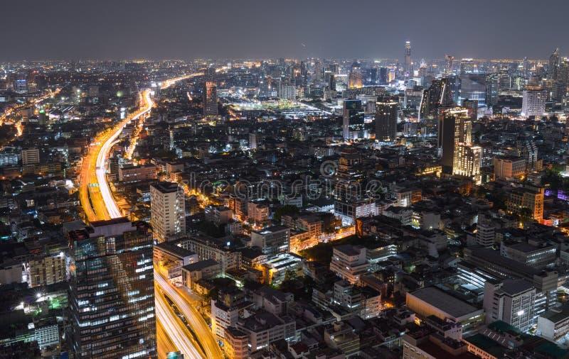 Night big city royalty free stock photos