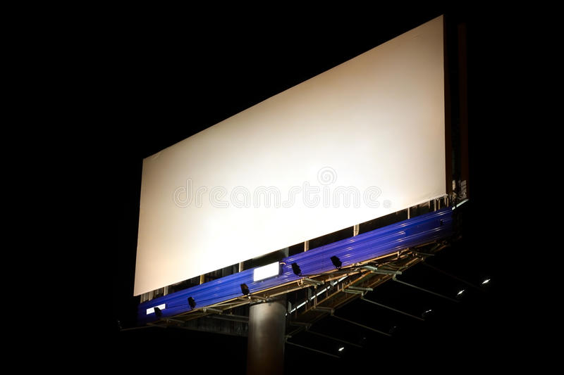 Download Night billboard stock image. Image of placard, black - 10205699