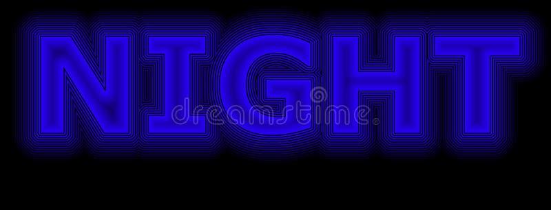 Night blue neon vector illustration