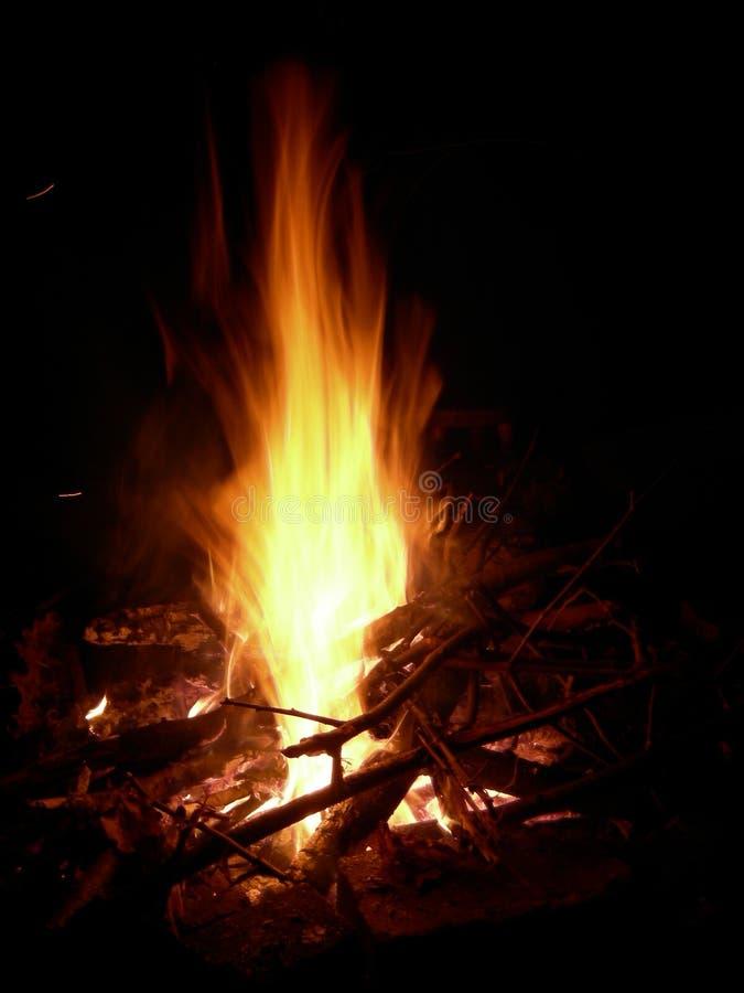 Night bonfire royalty free stock photos