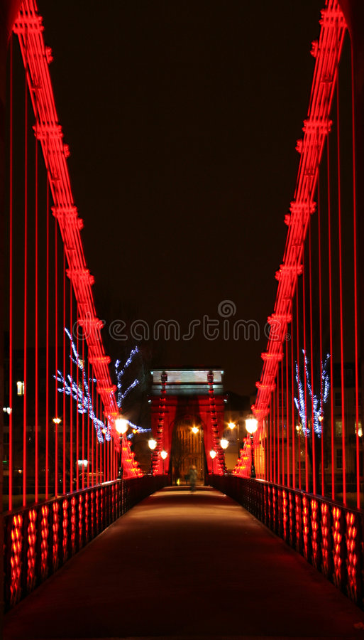 Download Night Bridge stock image. Image of architecture, glasgow - 554277