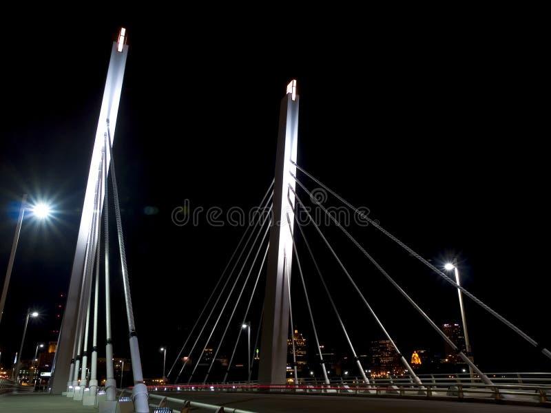 Download Night Bridge2 stock image. Image of fast, river, walk, wire - 18687
