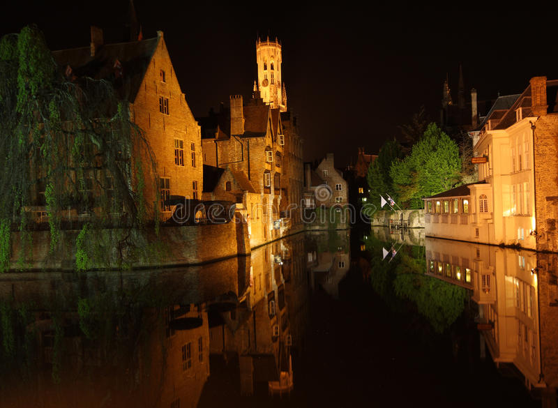 Download Night Bruges stock photo. Image of cityscape, exterior - 19567840