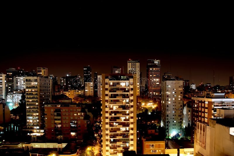 Night in Buenos Aires royalty free stock images