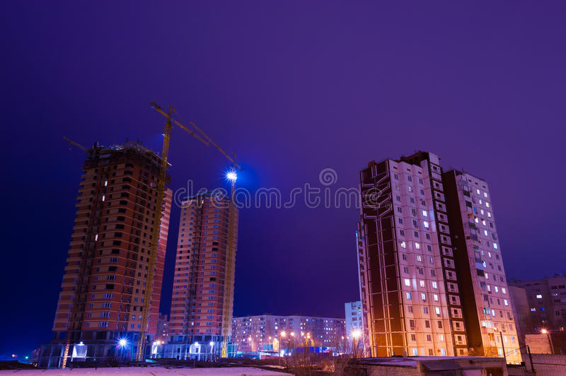 Download Night of the building stock photo. Image of rise, completion - 31857772
