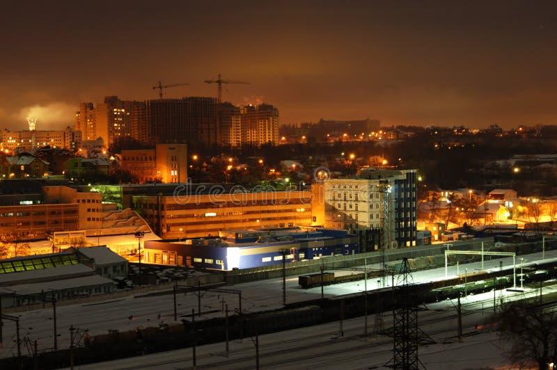 Night building, Kiev. European night city, night building, Kiev stock images