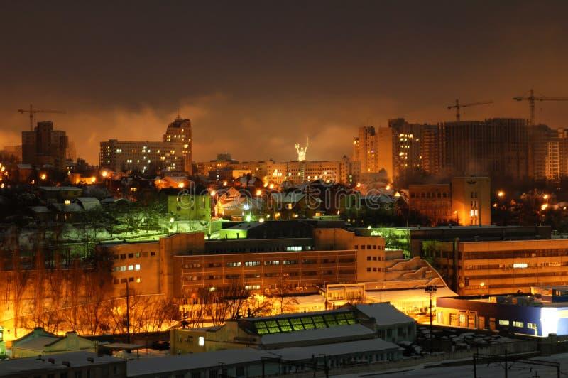Night building, Kiev. European night city, night building, Kiev royalty free stock photos
