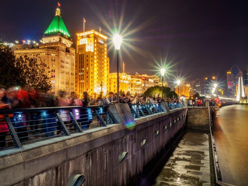 Night on The Bund, Shanghai, China royalty free stock photography