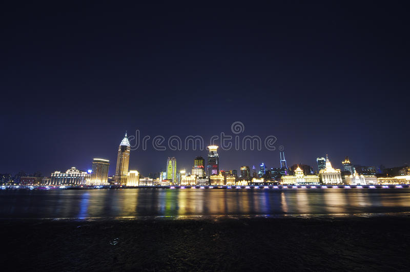 Night Bund(waitan),shanghai royalty free stock photo
