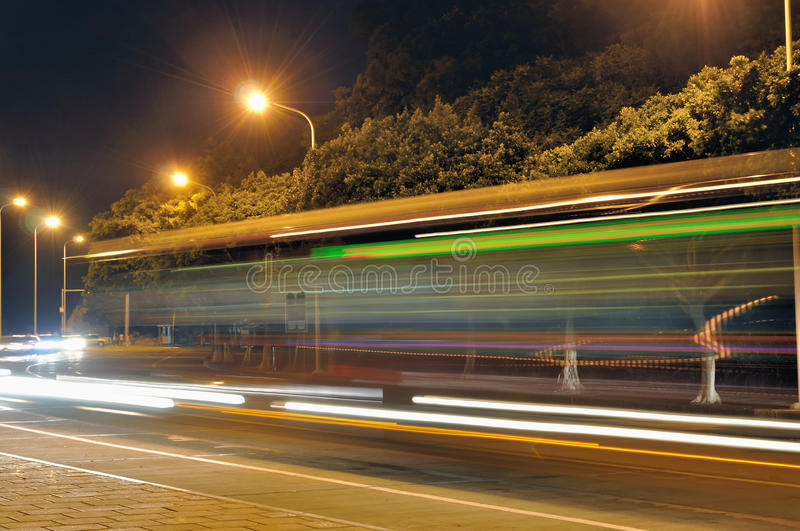 Download Night bus stock photo. Image of evening, movement, architecture - 15165388