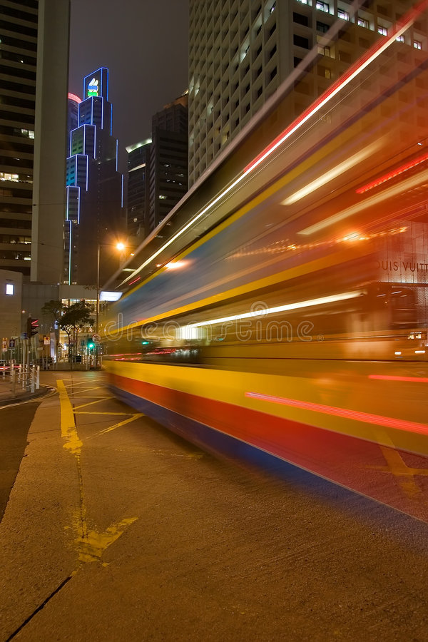 Download Night bus stock image. Image of city, neon, chinese, business - 1762823