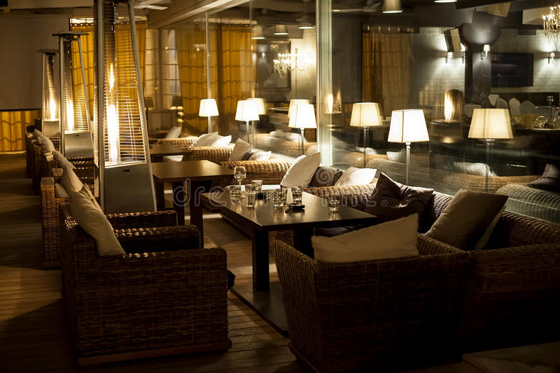 Night cafe royalty free stock photos
