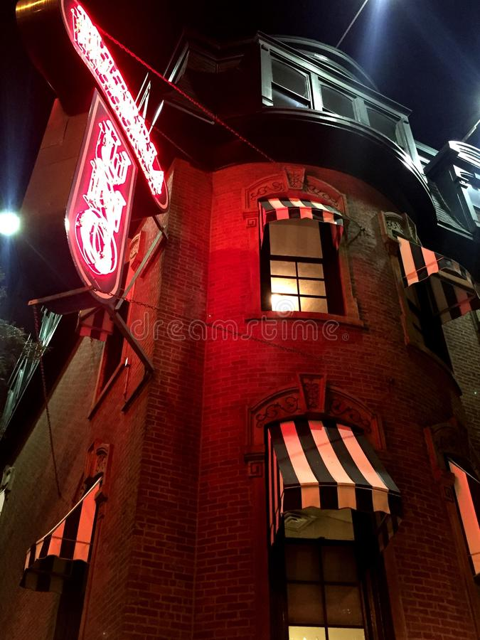 Night cafe royalty free stock photo