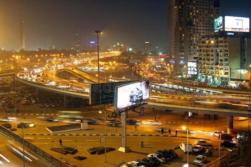Download Night in Cairo editorial image. Image of egypt, town - 18370485