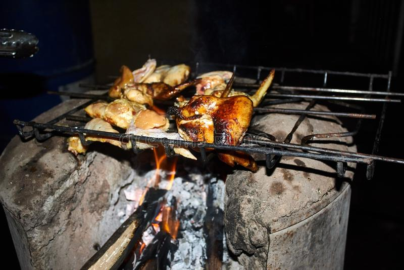Simmering Chicken Eggs In Metal Pot Stock Image Image Of