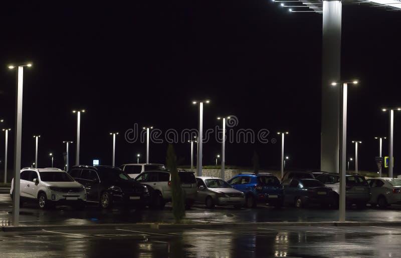 Night car parking stock photos