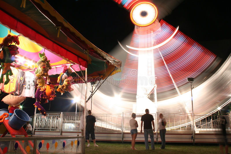 Night Carnival Ride royalty free stock image