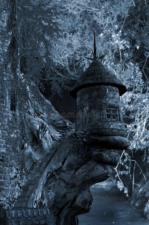 Download Night castle stock illustration. Image of digital, castle - 14858629