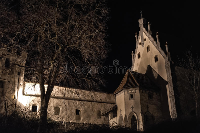 A night at the castle royalty free stock image