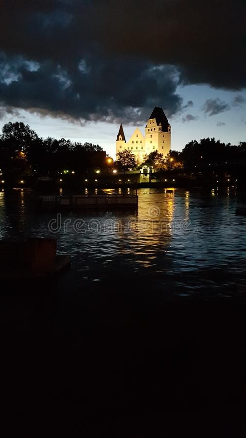 night castle royalty free stock images