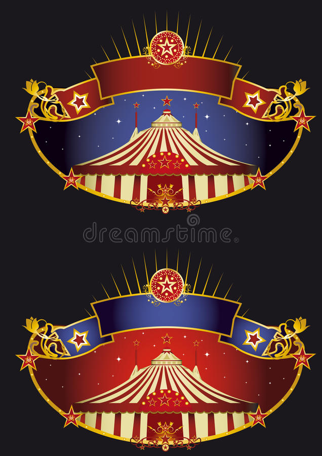 Download Night circus banners stock image. Image of oregon, pennant - 25004177