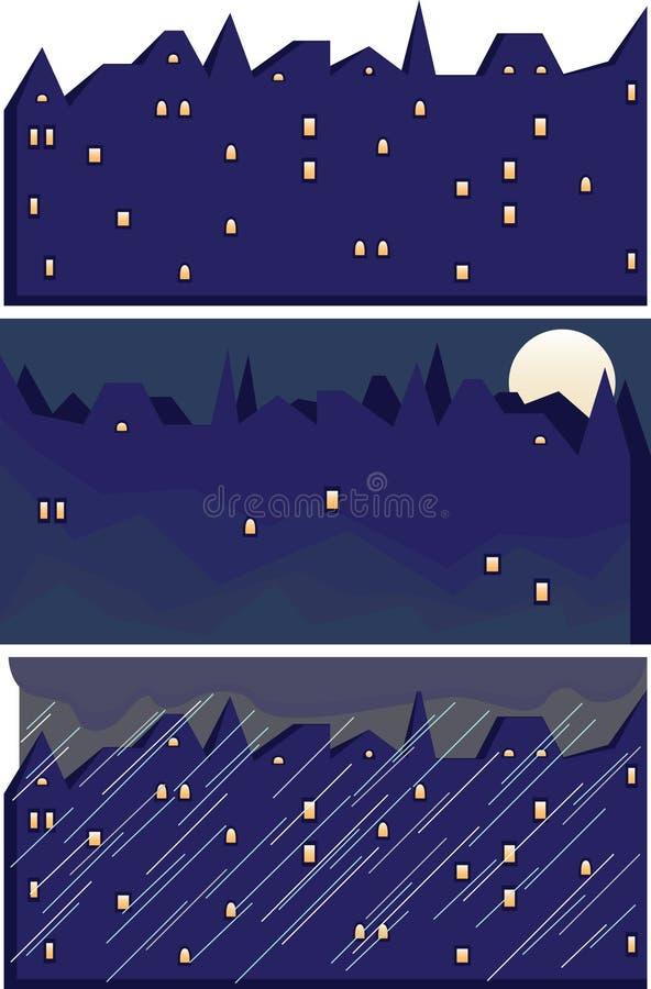 Night city stock illustration