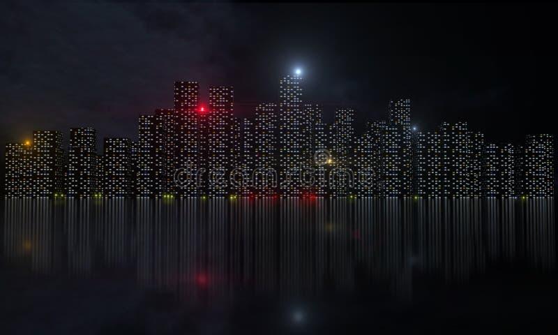 Download Night city stock illustration. Image of massachusetts - 28795588